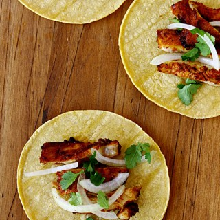 Spicy Chicken Tacos {With Roasted Tomatillo Salsa Verde}