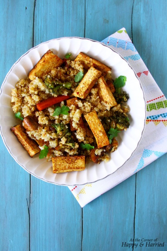 Asian Style Quinoa, Tofu And Vegetables Stir Fry