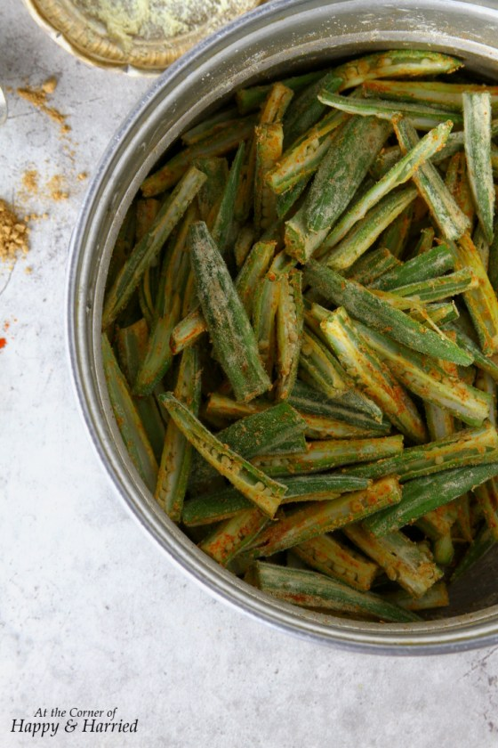 Indian Style Okra Fry Spice Rub