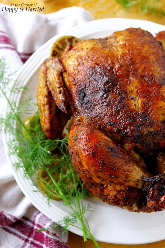 Perfect Roasted Chicken {Seasoned With Piri Piri Sauce And Sumac}