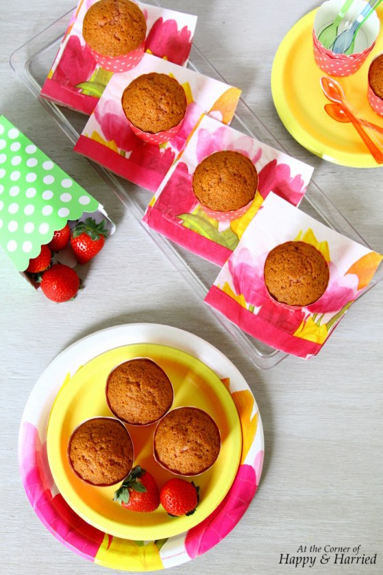 Strawberry Cupcakes Made With Real Strawberries