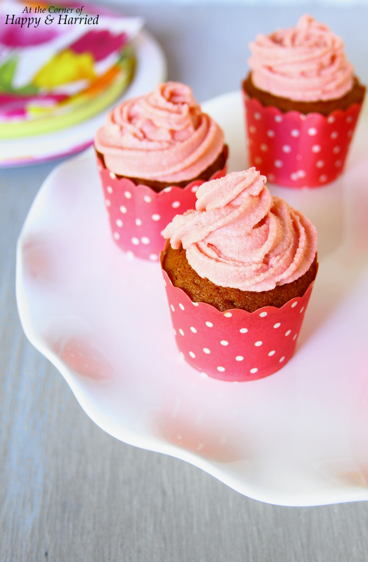 Strawberry Cupcakes & Strawberry Buttercream Frosting Made With Real Strawberries