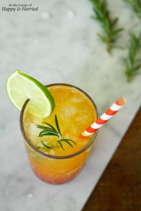 Strawberry & Orange Sunrise Mocktail