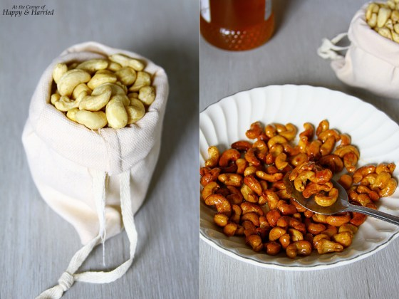 Honey Roasted Cashews With Cayenne