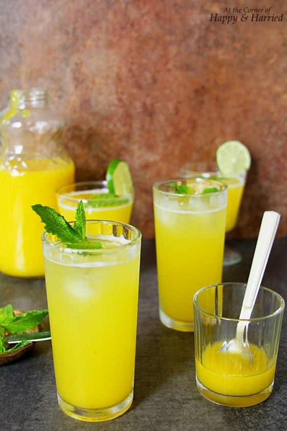 Aam Panna Drink Raw Mango And Mint Cooler)
