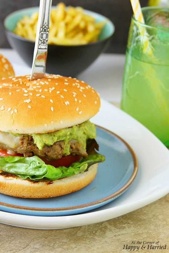 Guac And Roll Guacamole Cheeseburgers