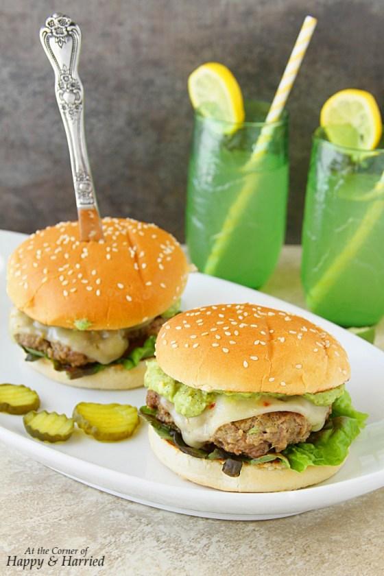 Guacamole Cheeseburgers