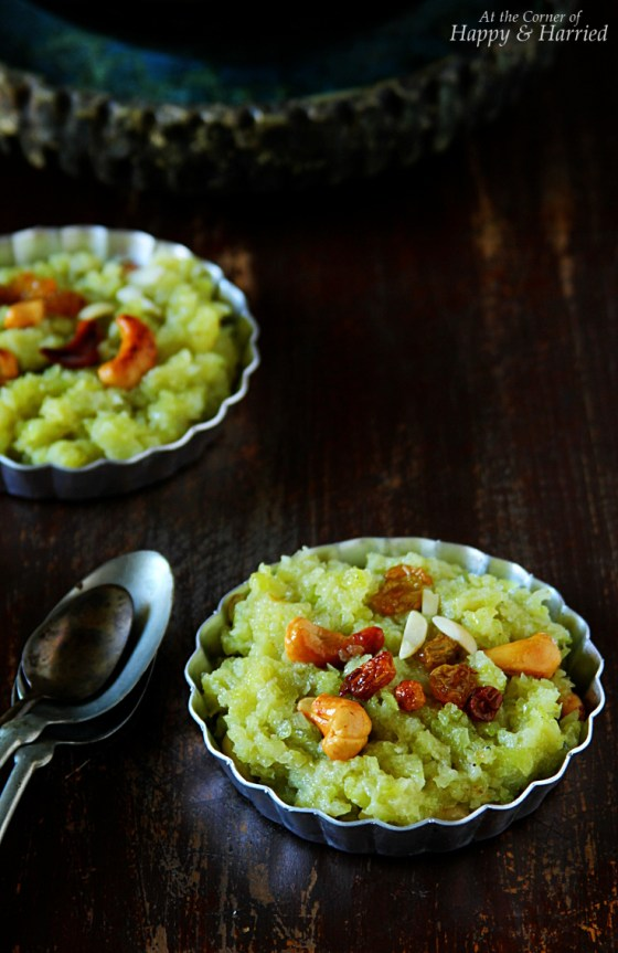 Lauki or Doodhi Halwa {Bottle Gourd Stove-top Pudding Dessert}