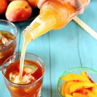 Peach Iced Tea {With Peach Simple Syrup}