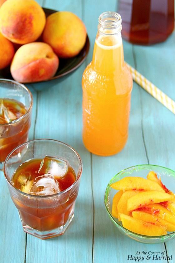 Peach Iced Tea {With Peach Syrup}