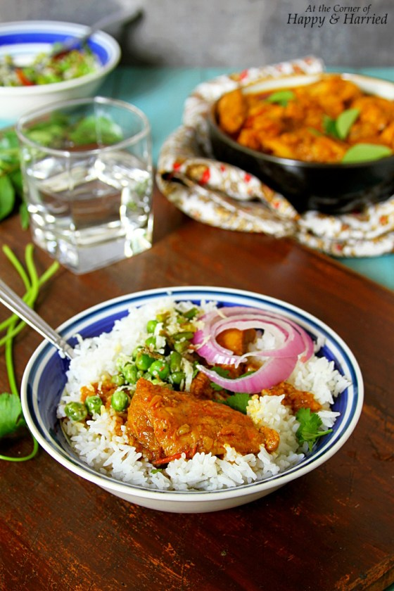 Sri Lankan Chicken Curry With Rice
