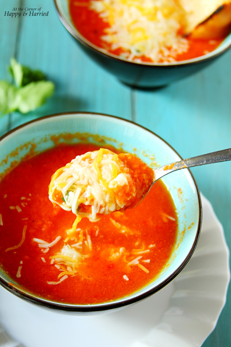 Homemade Roasted Tomato Soup With Cheese