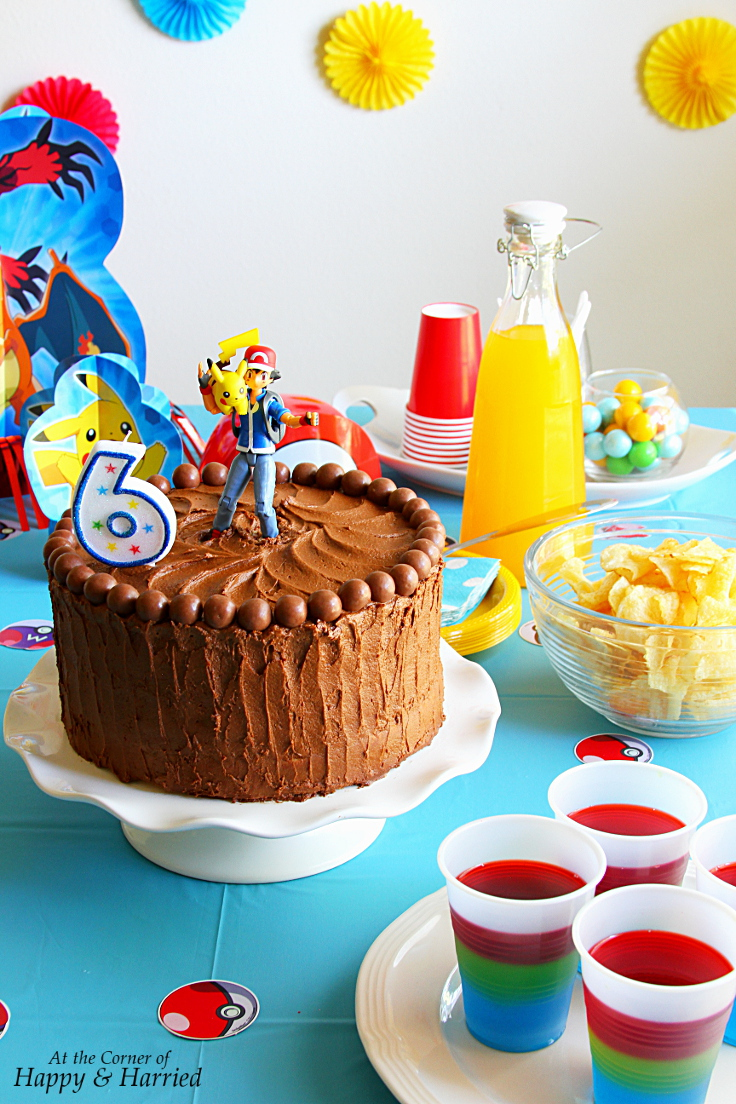 Pokemon Birthday Party With DIY Pokemon Cake