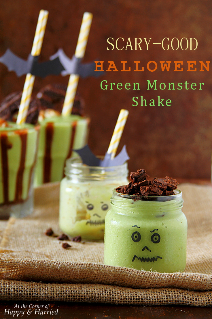 Scary Good Halloween Green Monster Shake