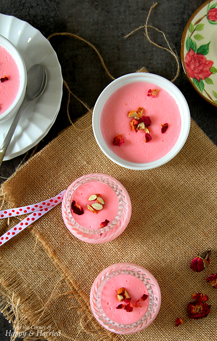 GULAB PHIRNI {Indian Rose Favored Rice Pudding}