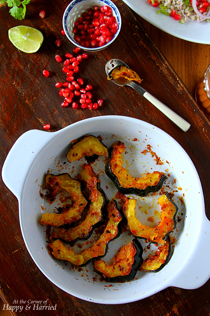 Roasted Acorn Squash With Chili, Oregano & Parmesan