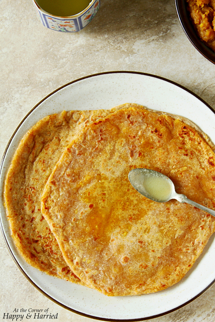 Pooran or Puran Poli {Sweet Lentil Stuffed Flatbreads}