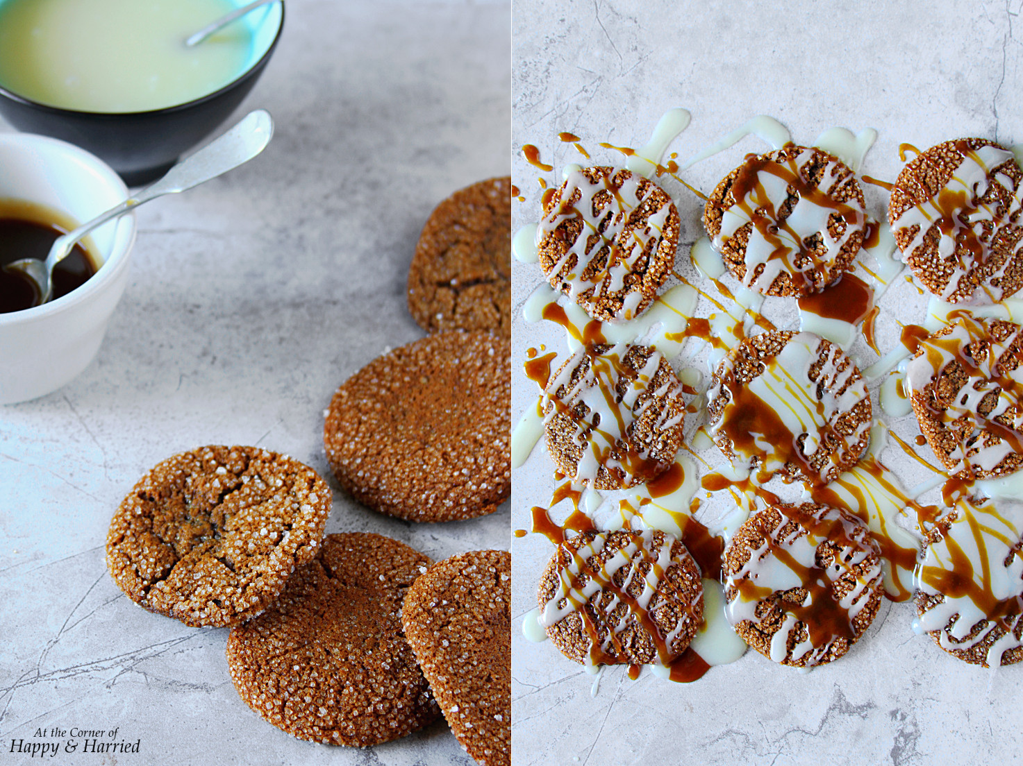Chewy Iced Molasses Cookies