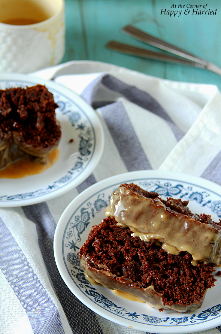 Peanut Butter Chocolate Loaf Cake With Peanut Butter Glaze