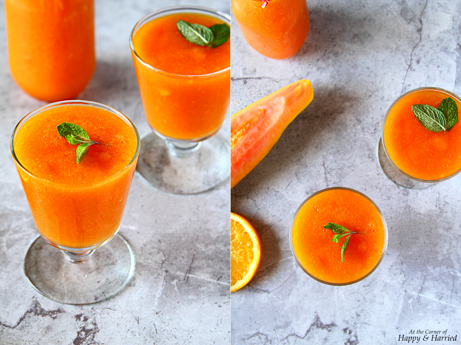 Papaya Orange Turmeric Smoothie