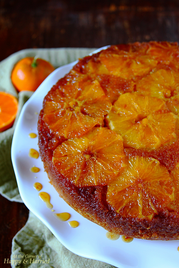 Upside Down Caramel Orange Cake