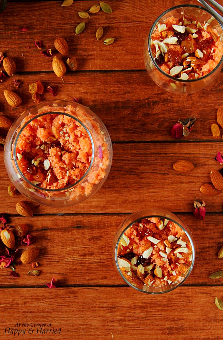 Meethi Seviyan Parfait {rose flavored sweet vermicelli dessert}