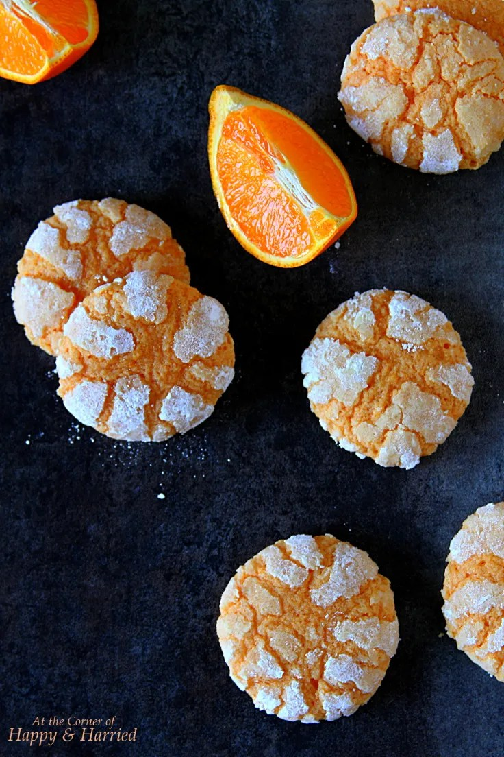 Soft Chewy Orange Crinkle Cookies