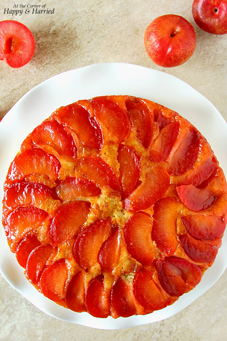 Upside-Down Plumcot Cake