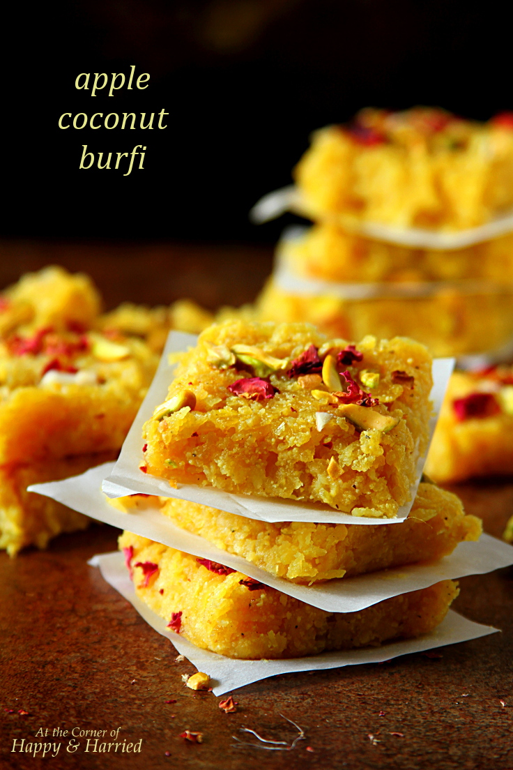 APPLE COCONUT BURFI (OR BARFI), INDIAN FUDGE DESSERT