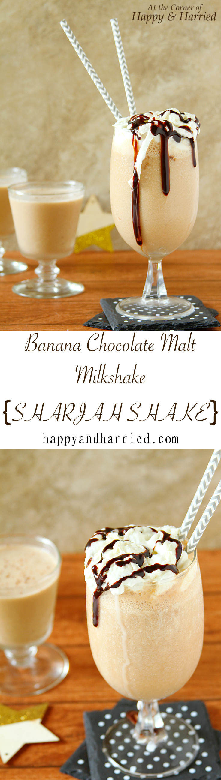 Banana Chocolate Malt Shake