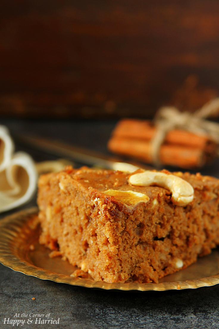 Apple Cinnamon Cashew Nut Cake
