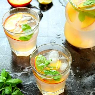 Nectarine Ginger Lemonade
