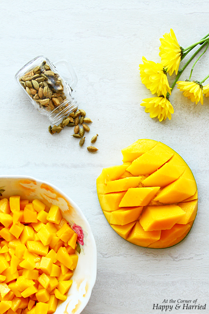 saffron and cardamom go enticingly well with mangoes and that