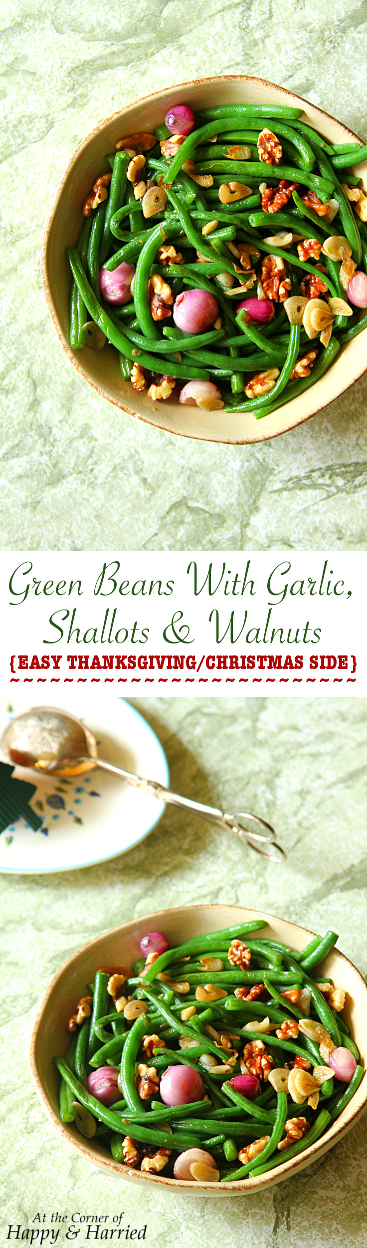 Green Beans With Garlic, Shallots & Walnuts