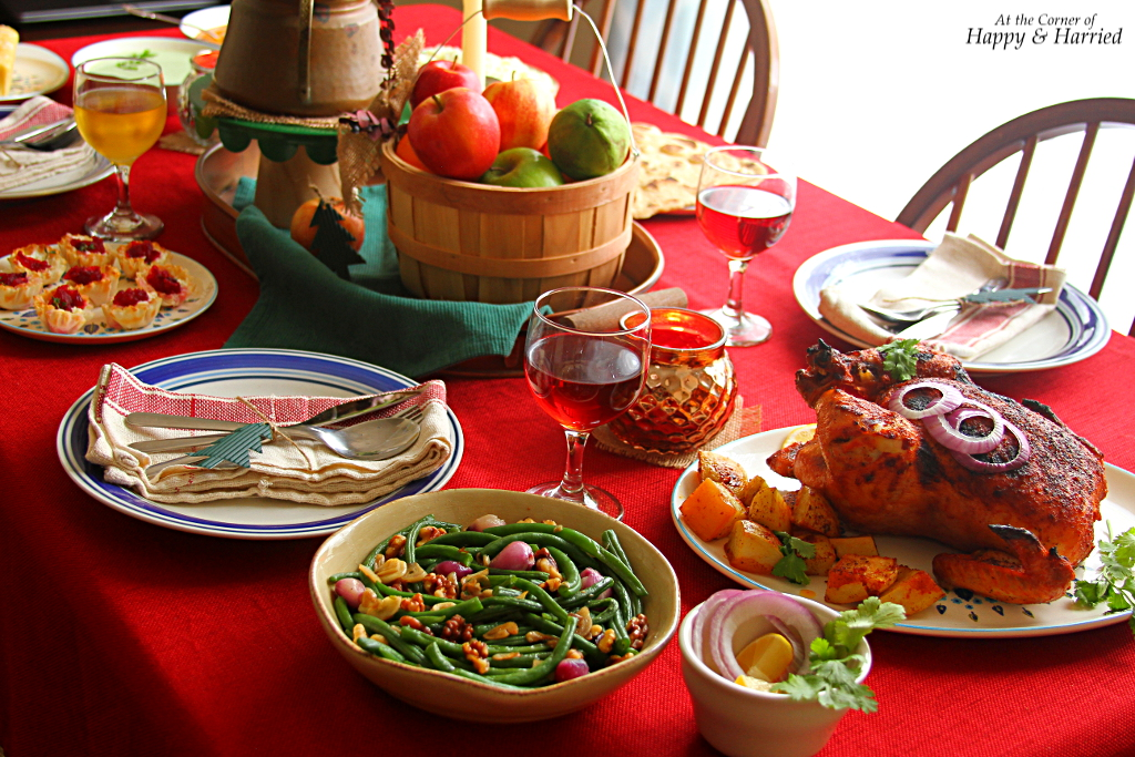 Thanksgiving Table Settings - Happy & Harried
