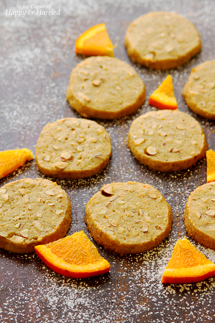 Chocolate-Dipped Almond & Orange Cookies