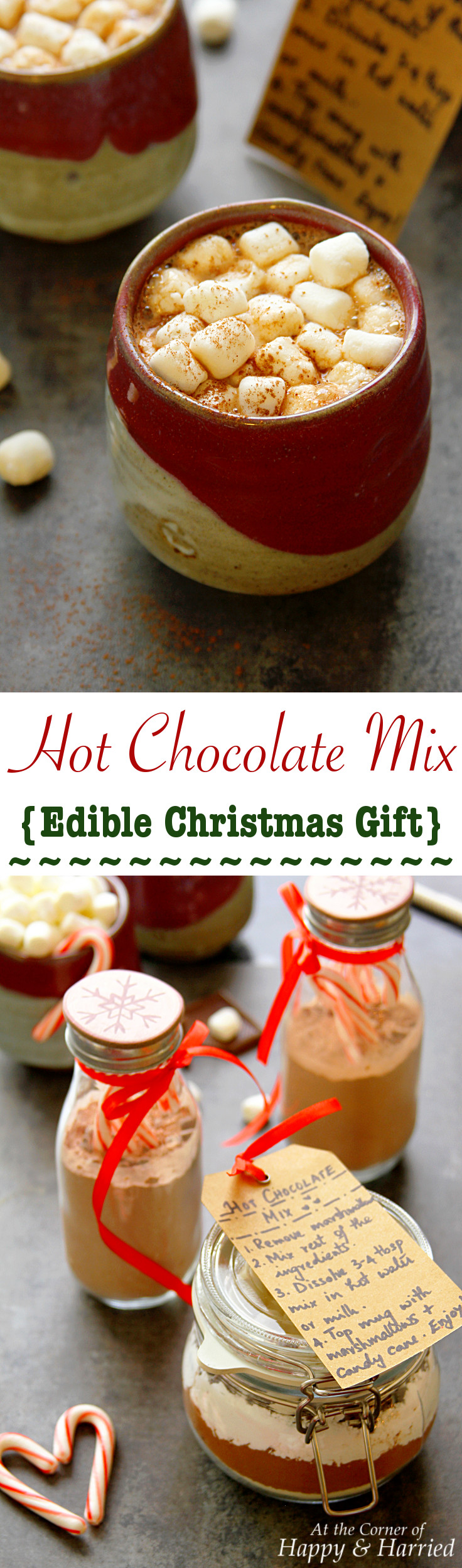 hot chocolate mix christmas edible gift