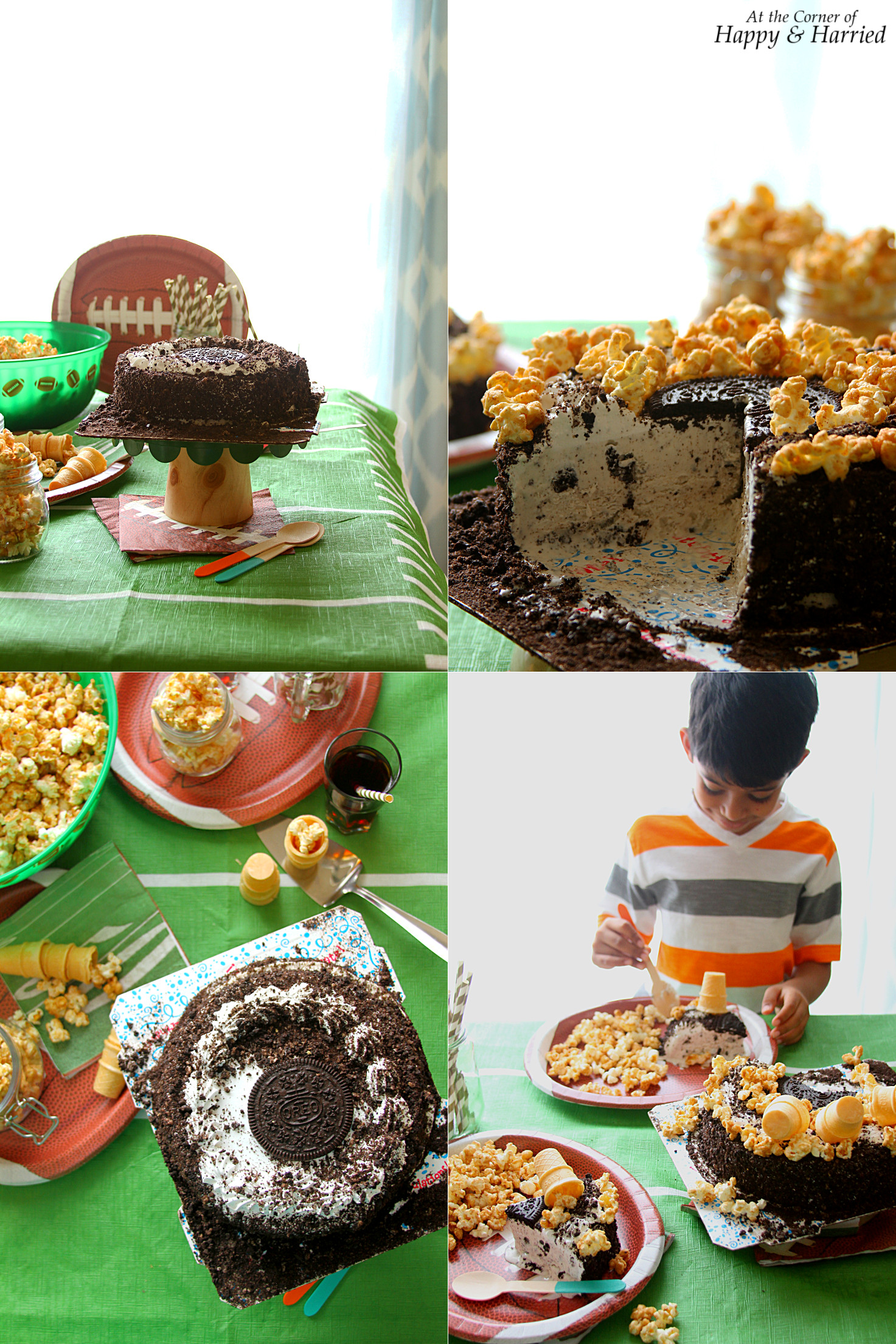 Cinnamon Sugar Popcorn & Ice Cream Cakes: A No-Fuss Game Day Combo