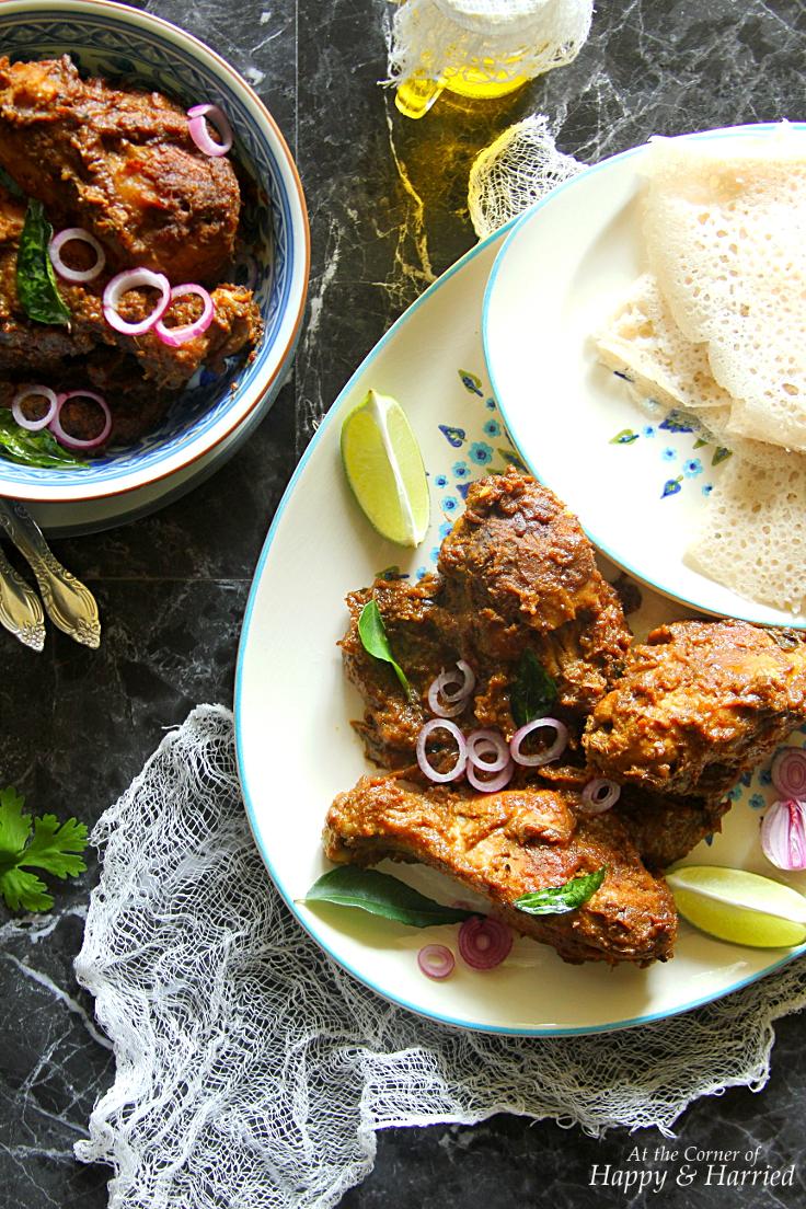 Mangalorean Chicken Ghee Roast Amp Neer Dosa