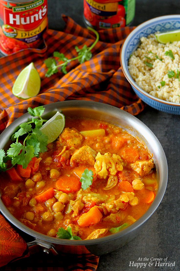 SLOW-COOKER MOROCCAN CHICKEN, CHICKPEAS & VEGETABLE TAGINE STEW - HAPPY&HARRIED