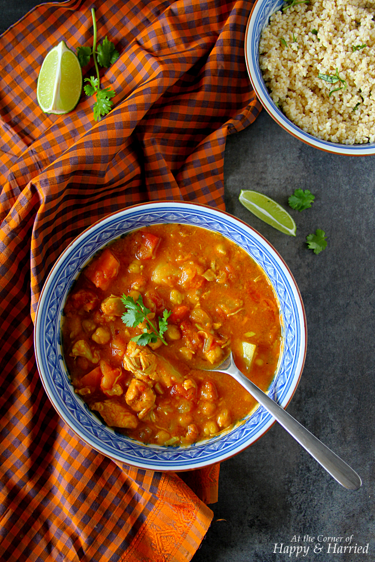 Slow-Cooker Moroccan Tagine {Chicken, Chickpeas & Vegetable Stew}