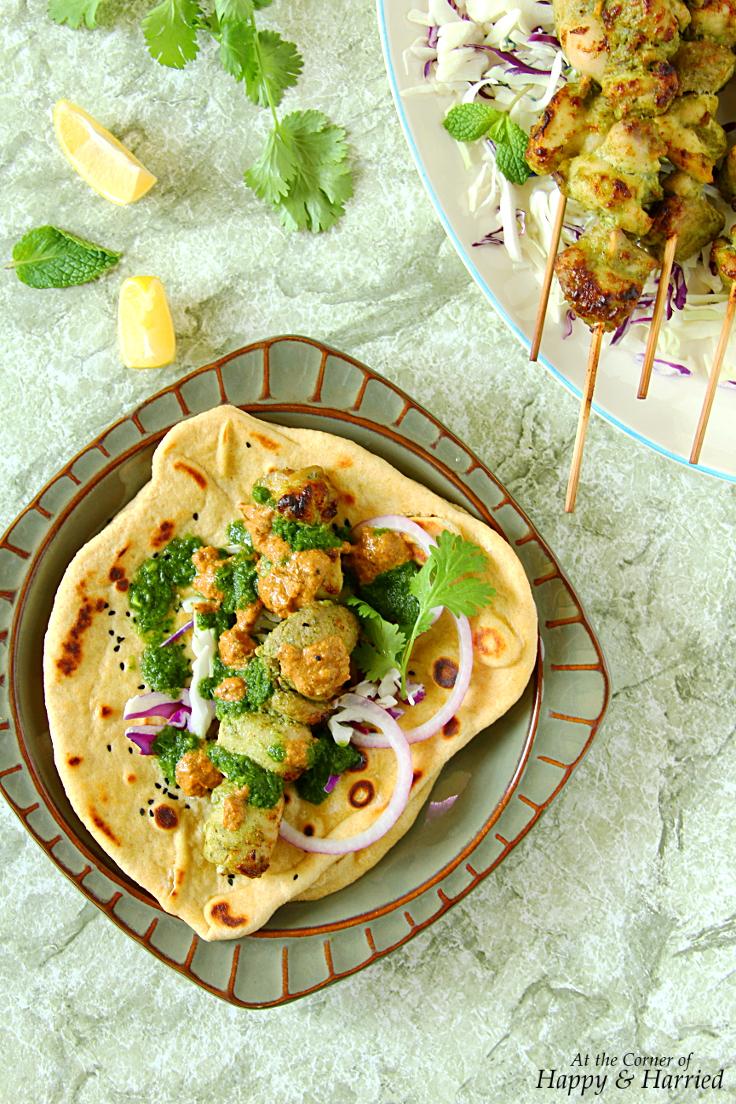 Chicken Malai Kebab Naan Wraps