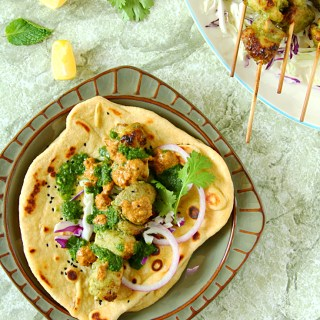 CHICKEN MALAI KEBAB NAAN WRAPS - HAPPY&HARRIED