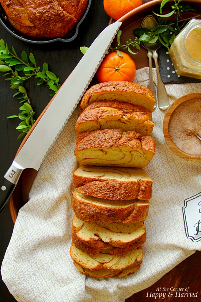 ORANGE CINNAMON BRAIDED BREAD & RICOTTA HONEY TOPPED TOAST - HAPPY&HARRIED