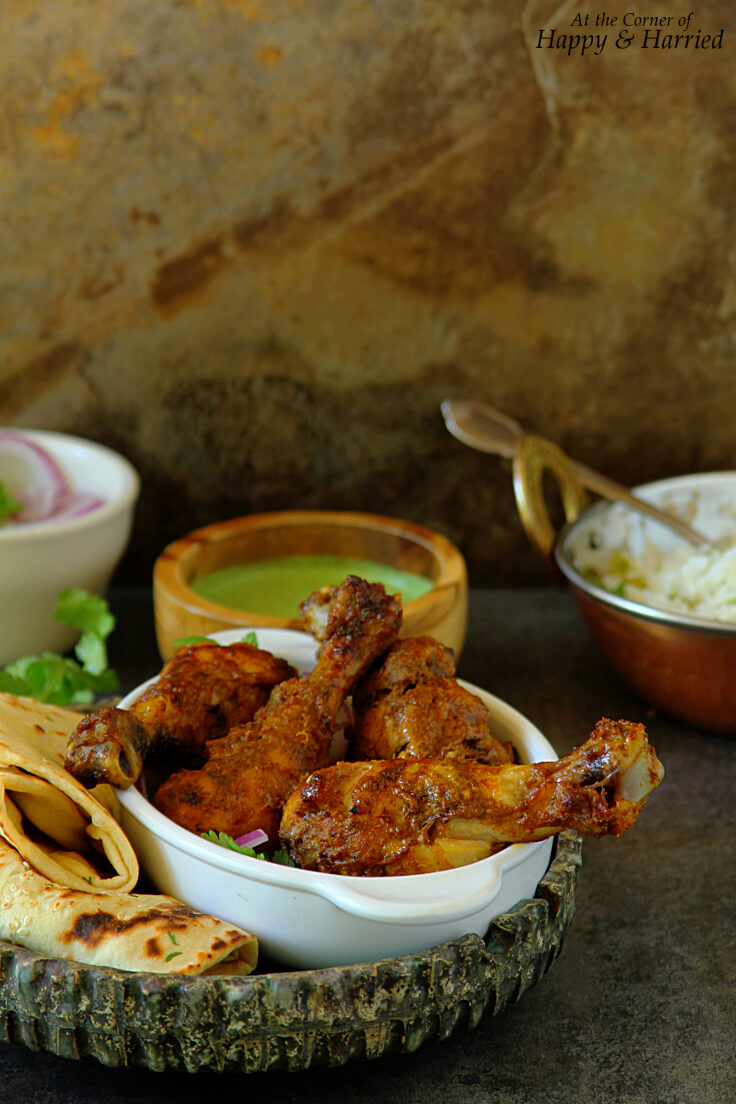 TANGDI KEBAB (OVEN BAKED TANDOORI CHICKEN LEGS) - HAPPY&HARRIED