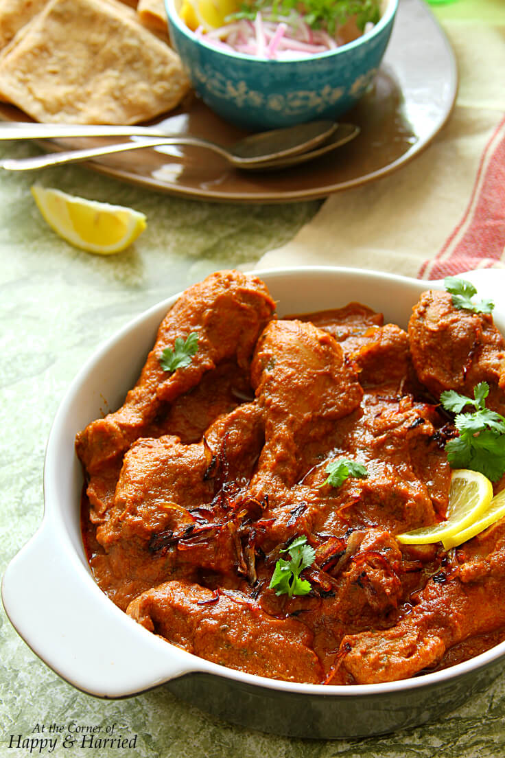 HYDERABADI DUM KA MURGH (SLOW-COOKED SPICY CHICKEN CURRY) - HAPPY&HARRIED