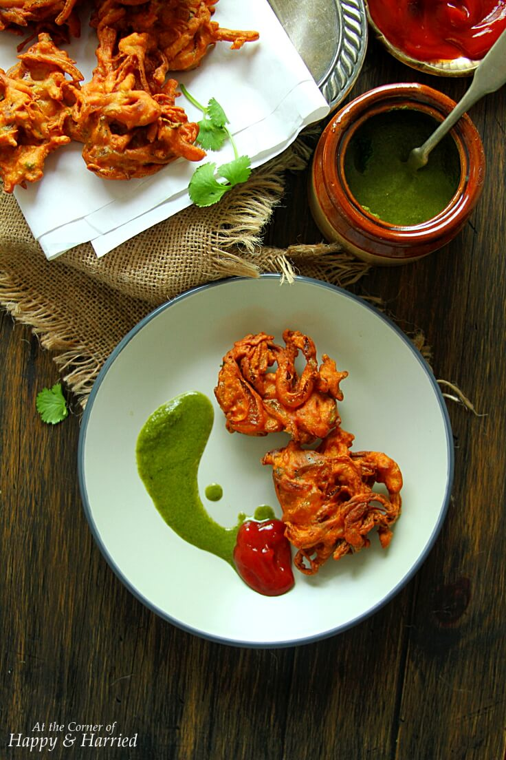 Onion Pakora {Spiced Onion Fritters}