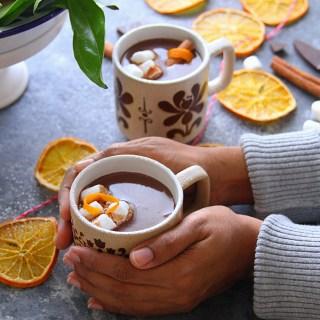 ORANGE-CINNAMON HOT CHOCOLATE - HAPPY&HARRIED