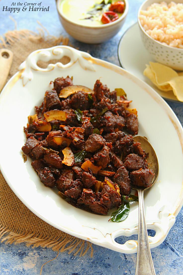 Beef Ularthiyathu {Kerala Beef Fry}