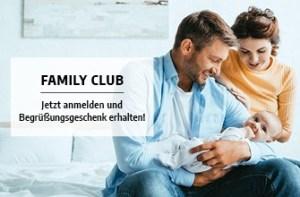 FamilyClub: Jetzt anmelden und Begrüßungsgeschenk erhalten!